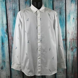 Club Room Bird Print Dress Shirt